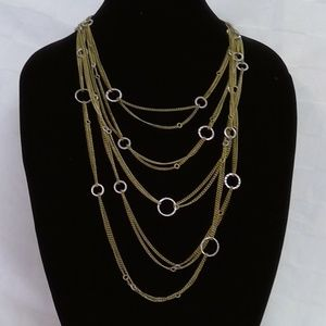 Gold & Silver Statement Necklace